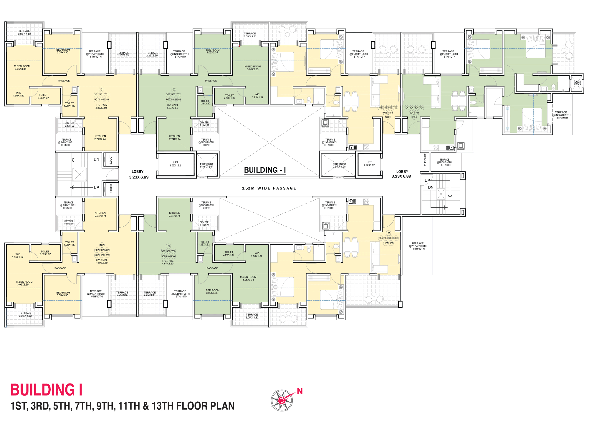 Pristine Pacific_Wing I 1,3,5,7,9,11,13 FLOOR PLAN