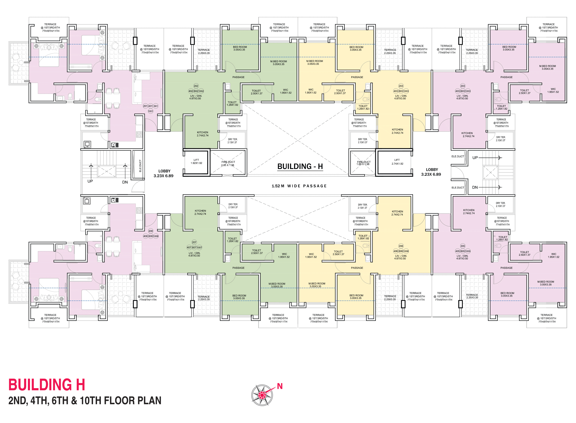 Pristine Pacific_Wing H 2,4,6,10 FLOOR PLAN