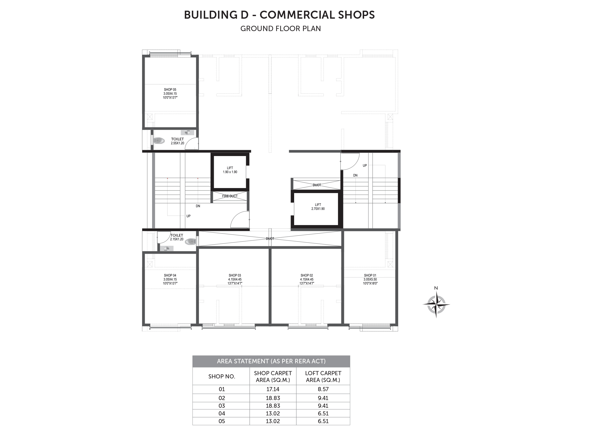 Pristine Prolife 3_Building D - COMMERCIAL SHOPS GROUND FLOOR PLAN