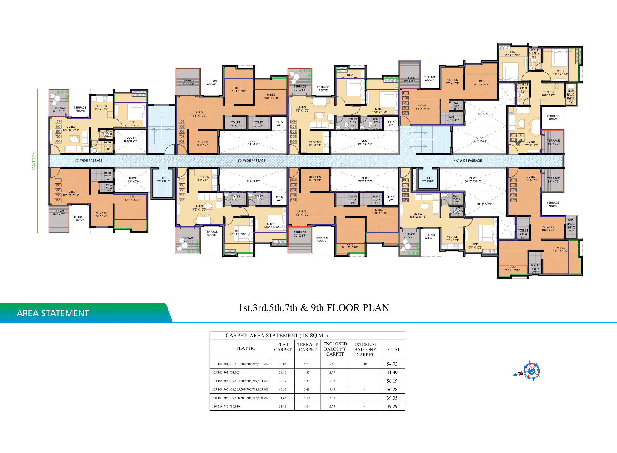 Pristine Aakanksha_1,3,5,7 FLOOR PLAN