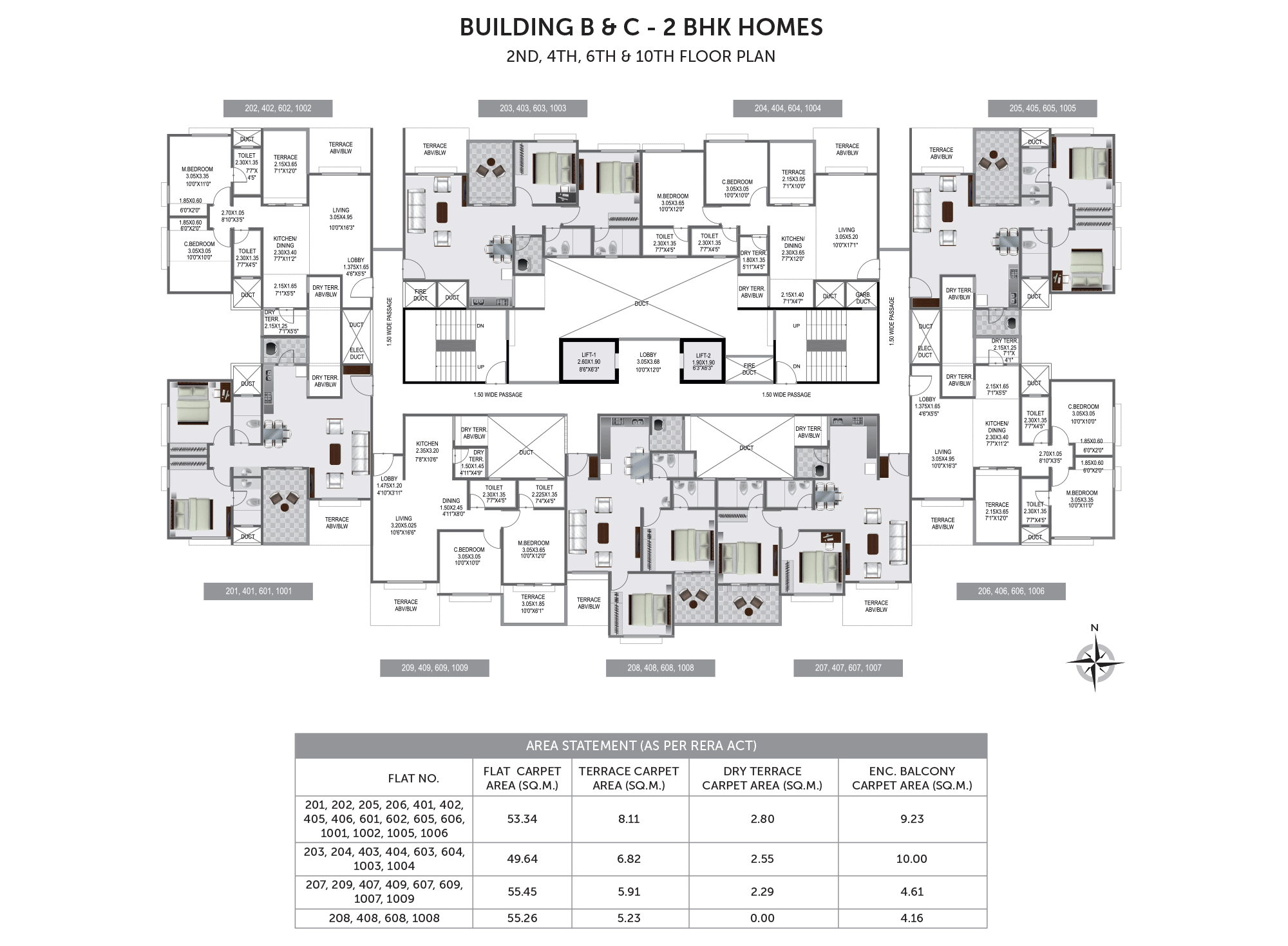 Pristine Prolife 3_Building B & C - 2ND, 4TH, 6TH & 10TH FLOOR PLAN