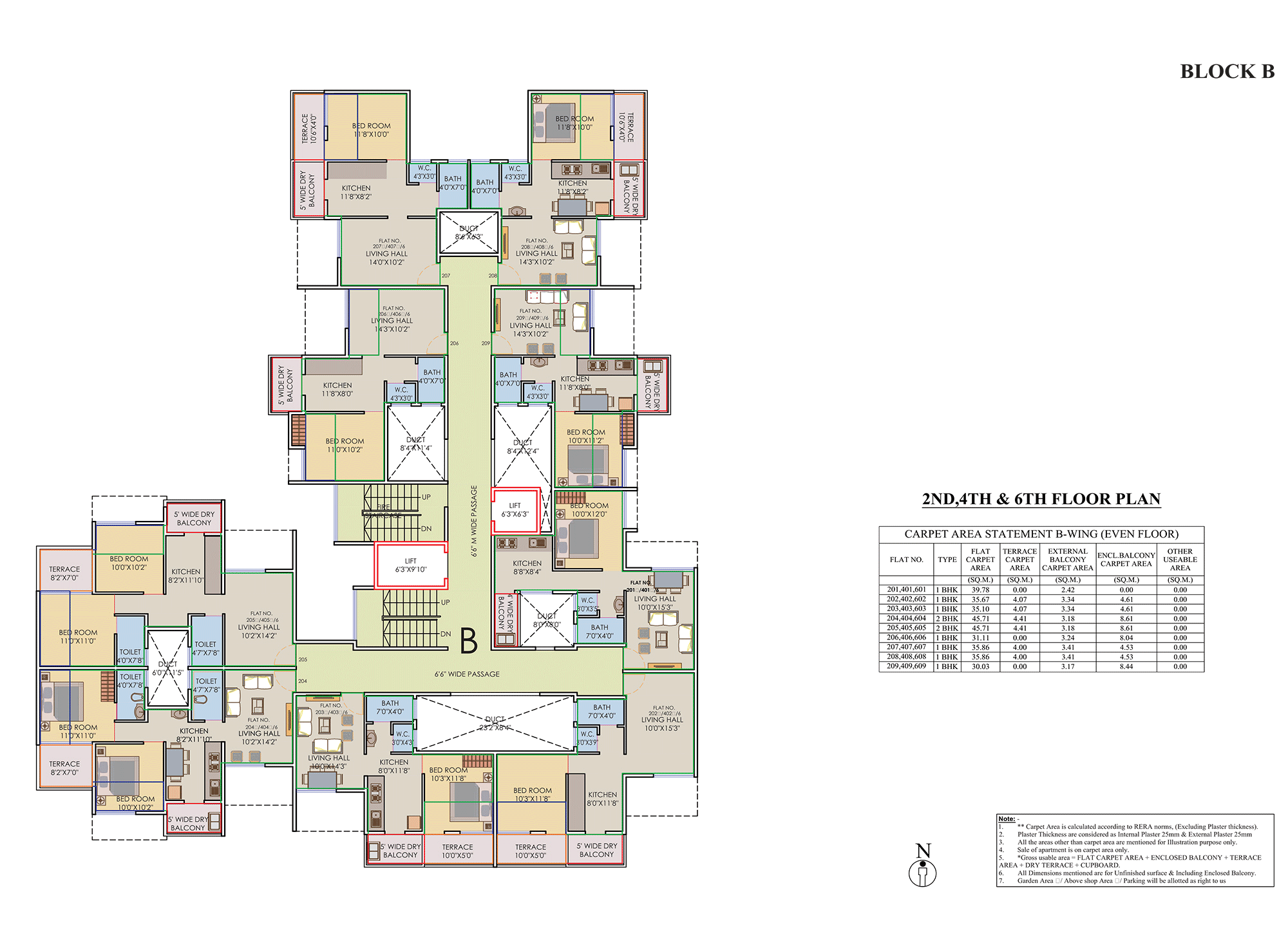 Prisitne Palms_Building  B 2,4,6 FLOOR PLAN